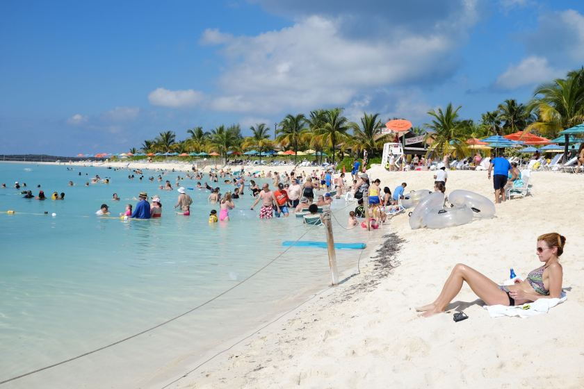 Beach on Castaway Cay (Photo: Michelle Rae)